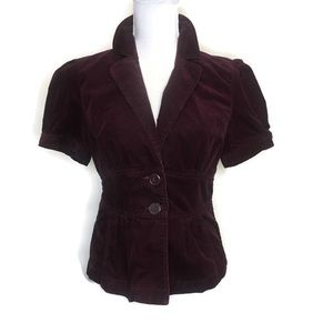 Halogen Burgundy Corduroy Top